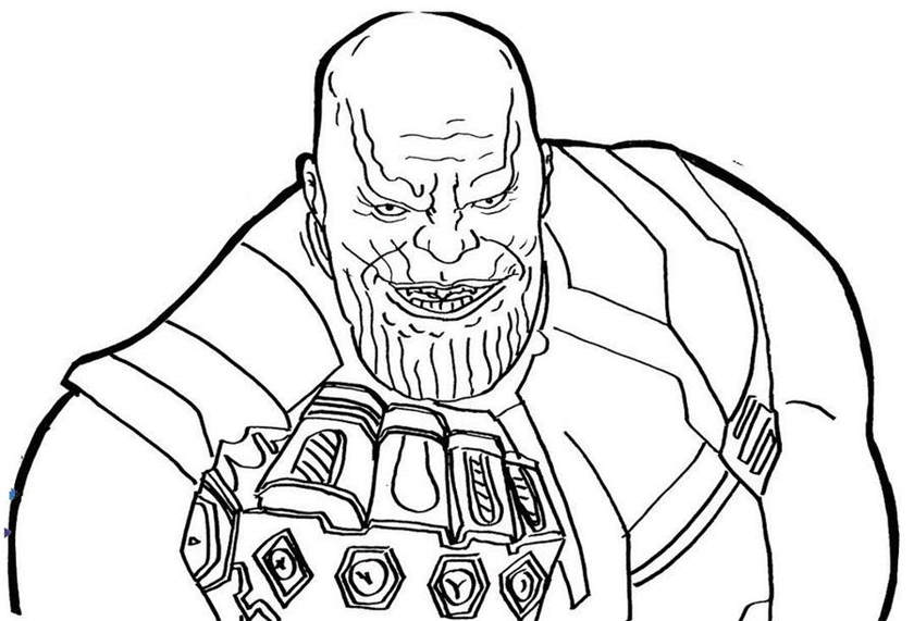 Free Thanos Coloring Pages for Kids - Get Coloring Page
