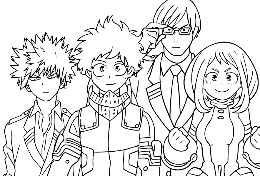 My Hero Academia Coloring Pages - Coloring Home