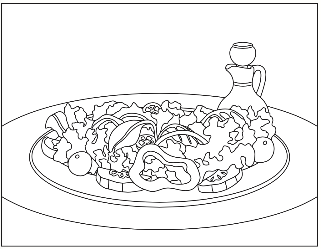 Summer Salad Coloring Page ...news.nutritioneducationstore.com