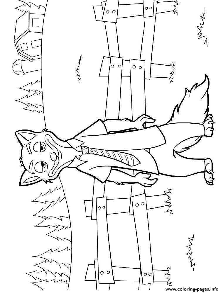 Zootopia Nick Wilde Coloring Page Printable
