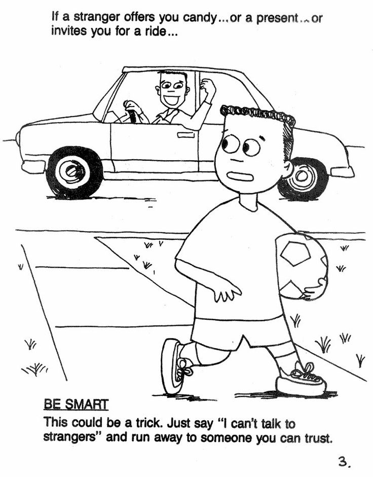 Stranger Danger Coloring Pages Coloring Home
