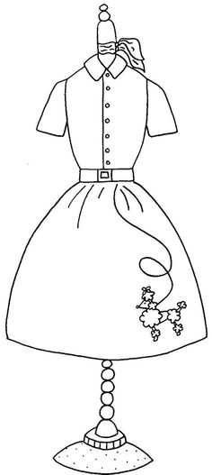 printable 50s coloring pages - photo#10