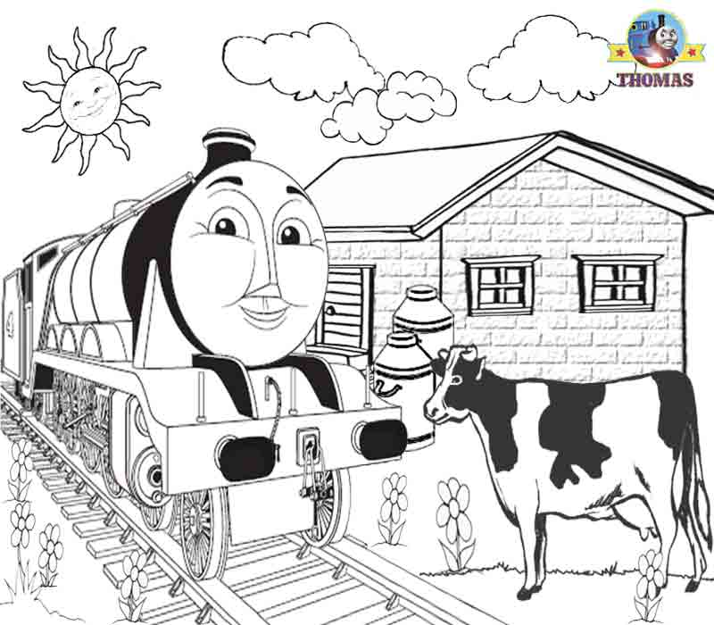 Kids Free Online Coloring Pages Thomas Train Printable Pictures