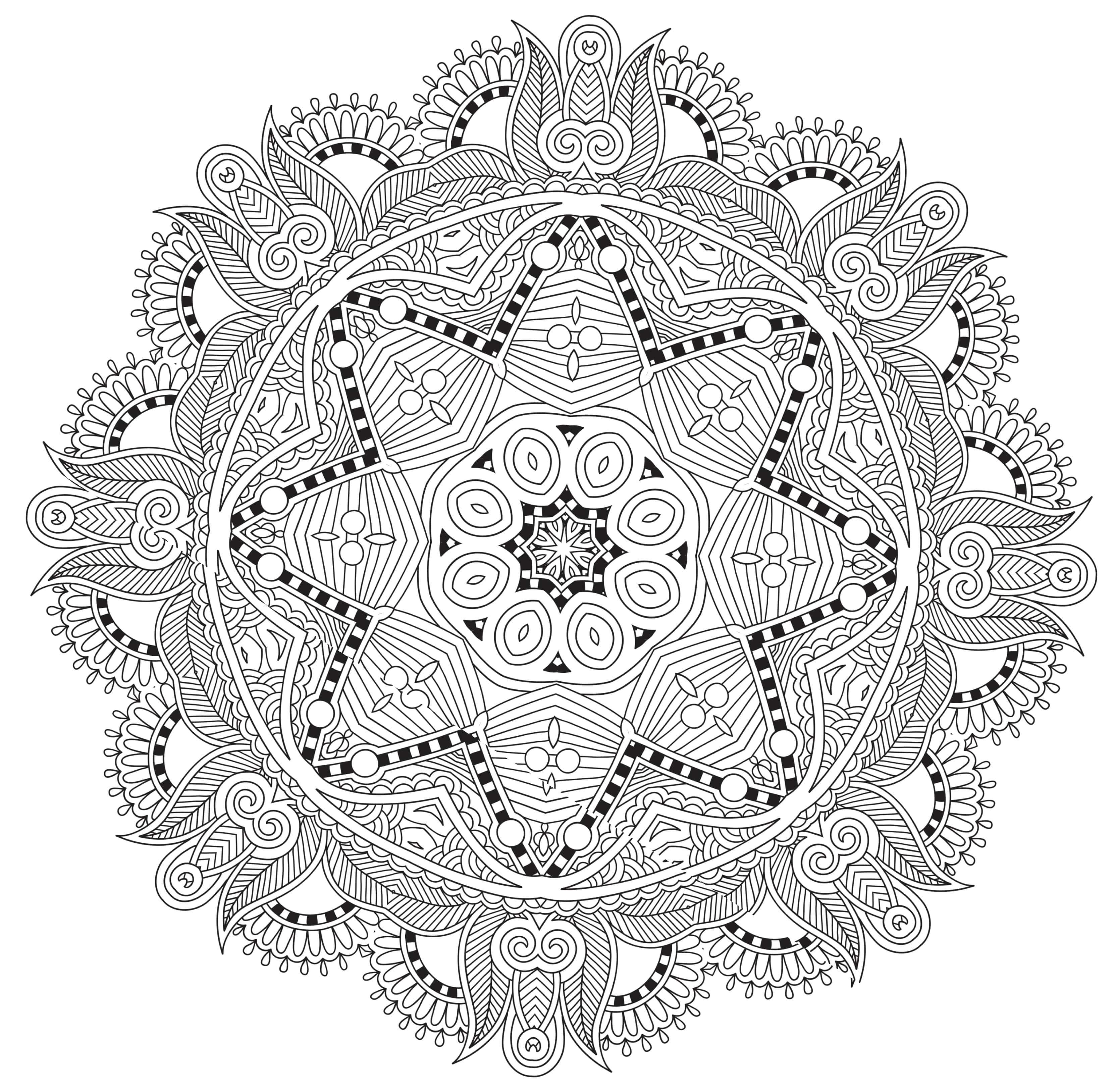 20 Free Printable Coloring Pages: Mandala Templates - The Maven Circle