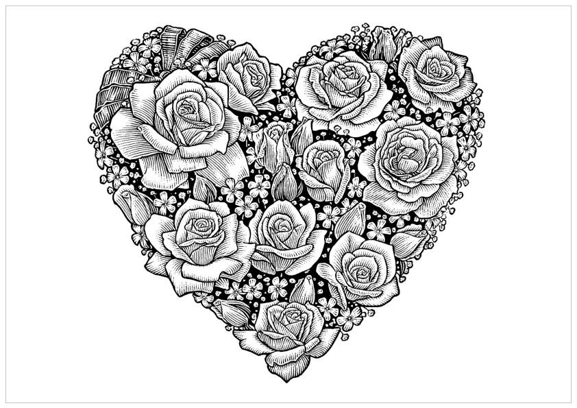 Coloring Pages For Adults Hearts : Free Adult Printable Coloring Pages Roses Heart Coloring Home