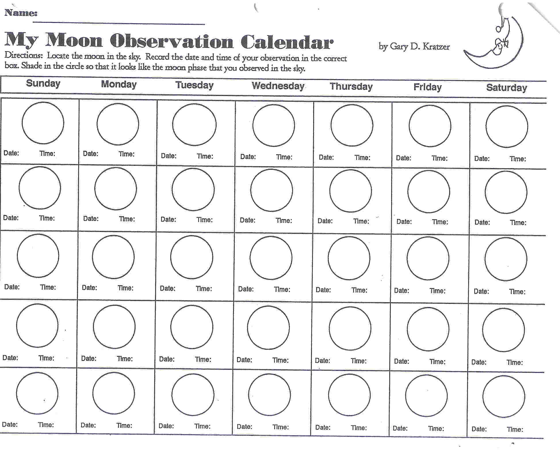 Phases Moon Coloring Page Coloring Home
