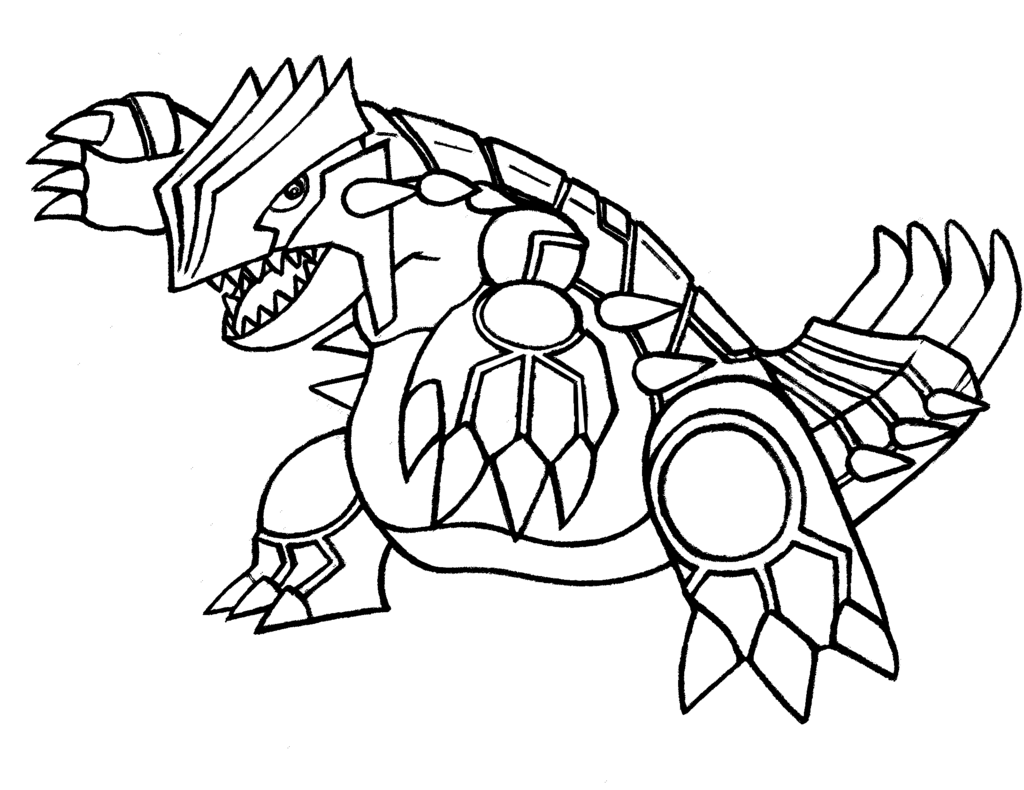 Coloring Pages Pokemon Groudon : Groudon Coloring Pages Coloring Home