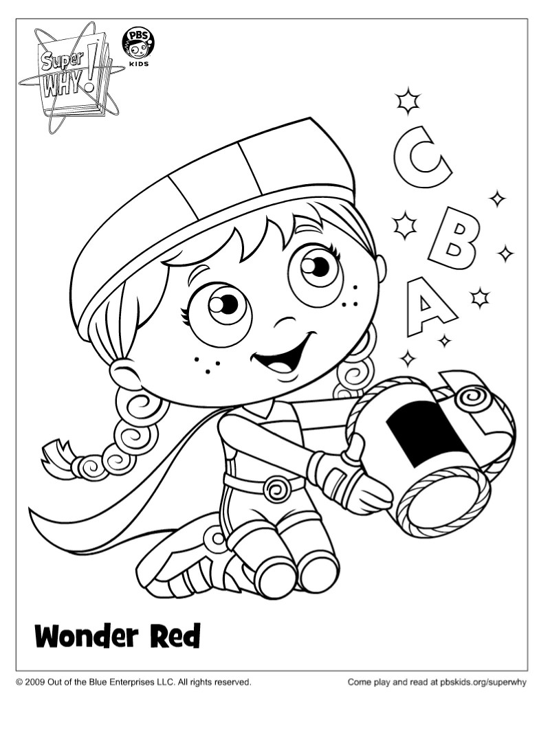 Super Why Coloring Pages Az Coloring Pages Why Coloring Page