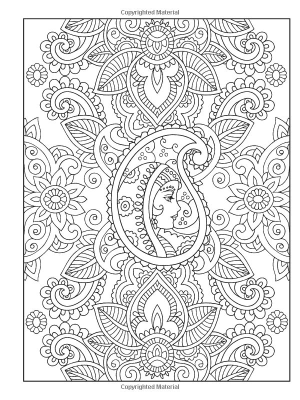 Mehndi Coloring Pages - Coloring Home