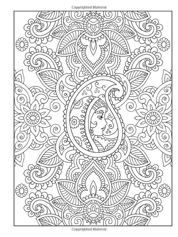 Mehndi Patterns Coloring Kit : Mehndi coloring pages home