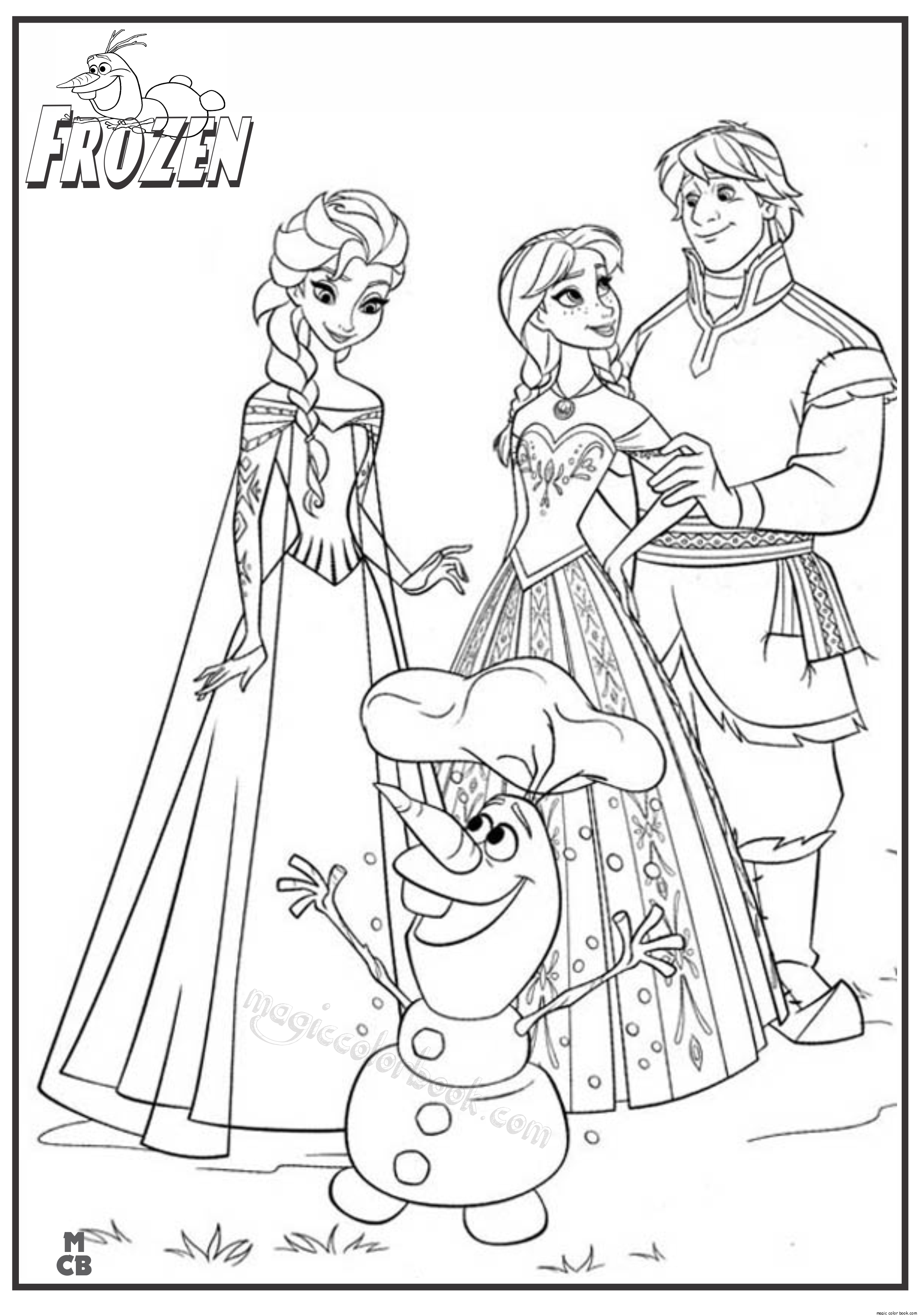 - Frozen Coloring Pages - Coloring Home