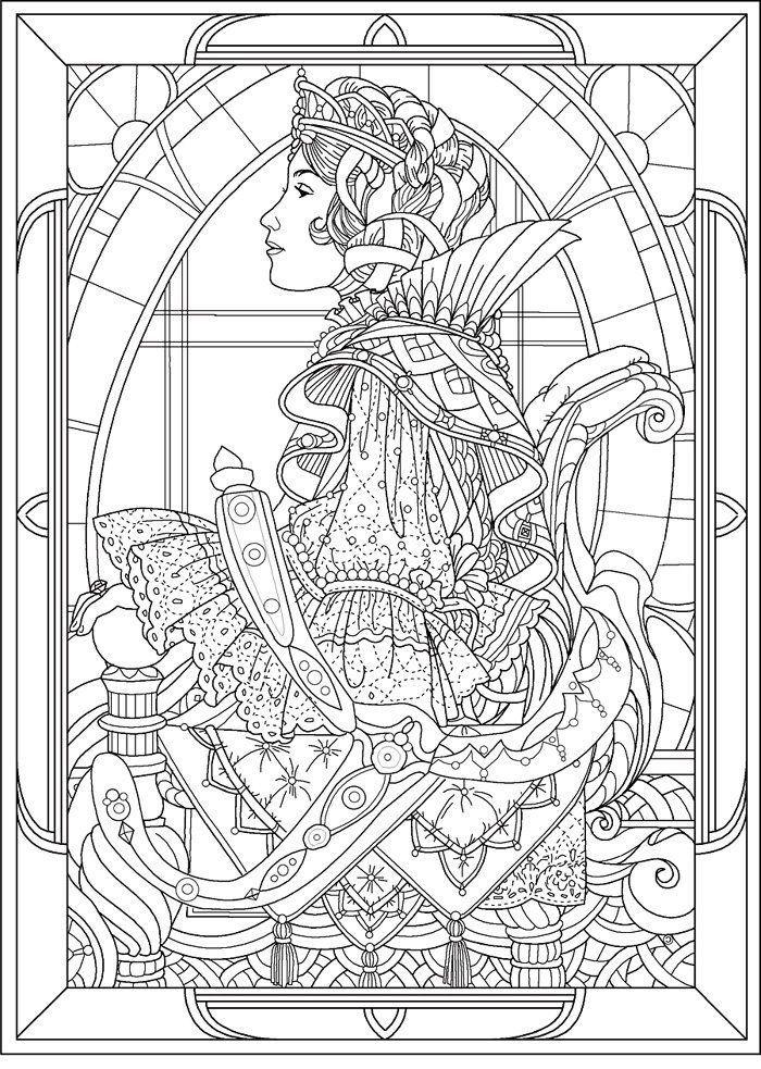 Art Nouveau Coloring Pages AZ