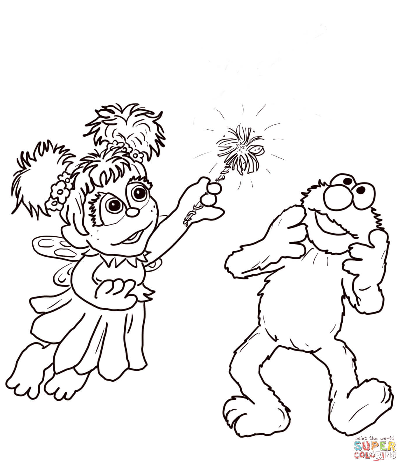 Abby Cadabby And Elmo Coloring Page
