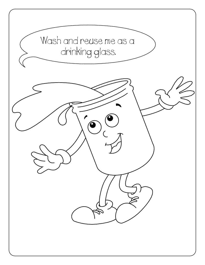 Coloring pages water - Water Conservation Coloring Page