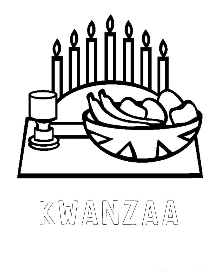 Kwanzaa Coloring Pages For Kids Coloring Home