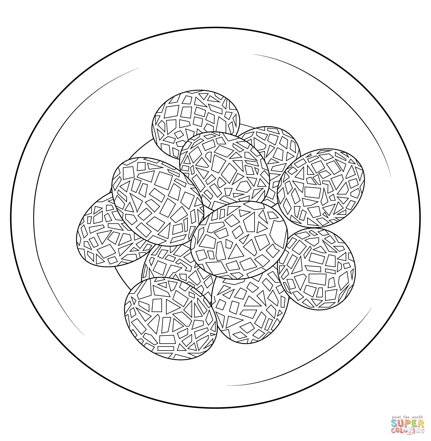 mosaics coloring pages - photo#36