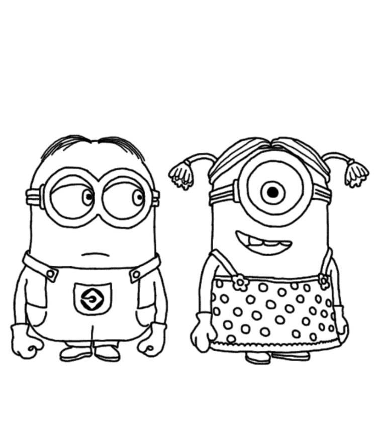 image relating to Free Printable Minions Coloring Pages called Printable Minions Coloring Webpages - Coloring Household