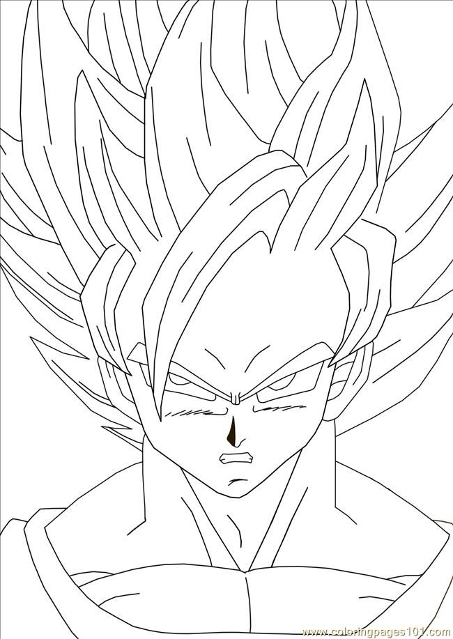 Color goku coloring home for Goku coloring page