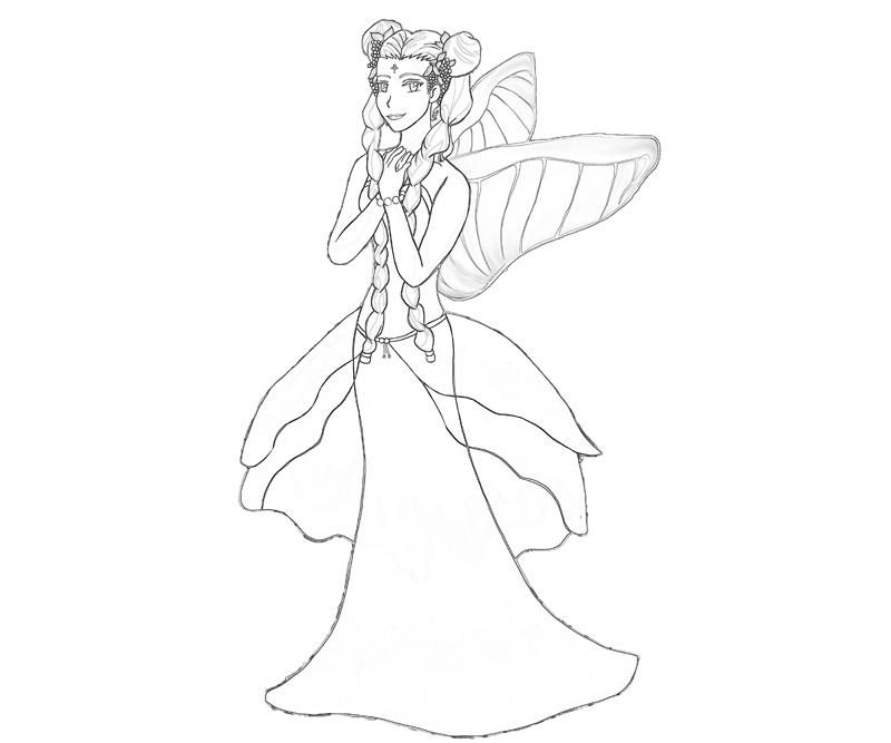 Harvest Moon Coloring Pages Harvest Moon Harvest Goddess