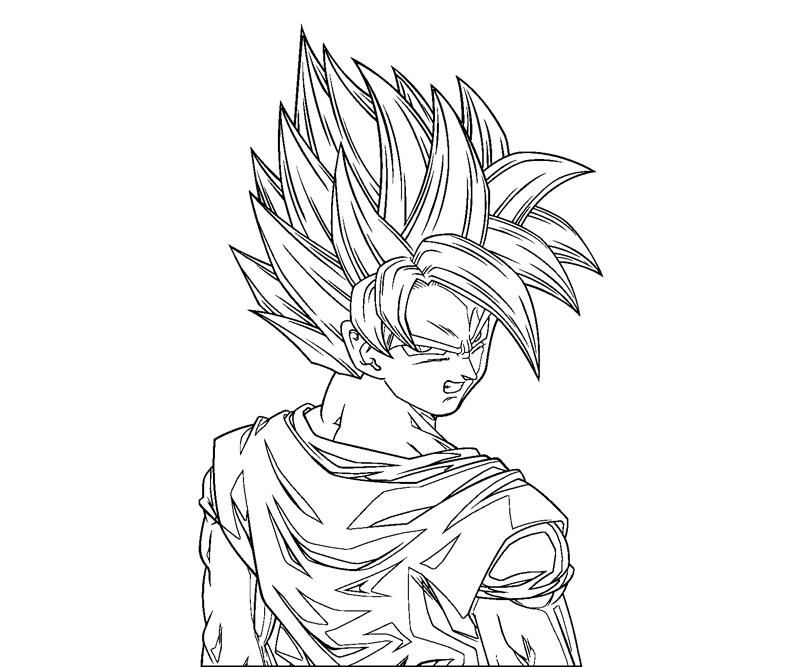 Goku 1 Coloring | Crafty Teenager
