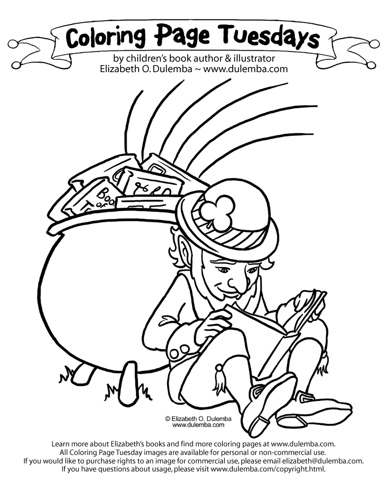 dulemba: Coloring Page Tuesday - Leprechaun '