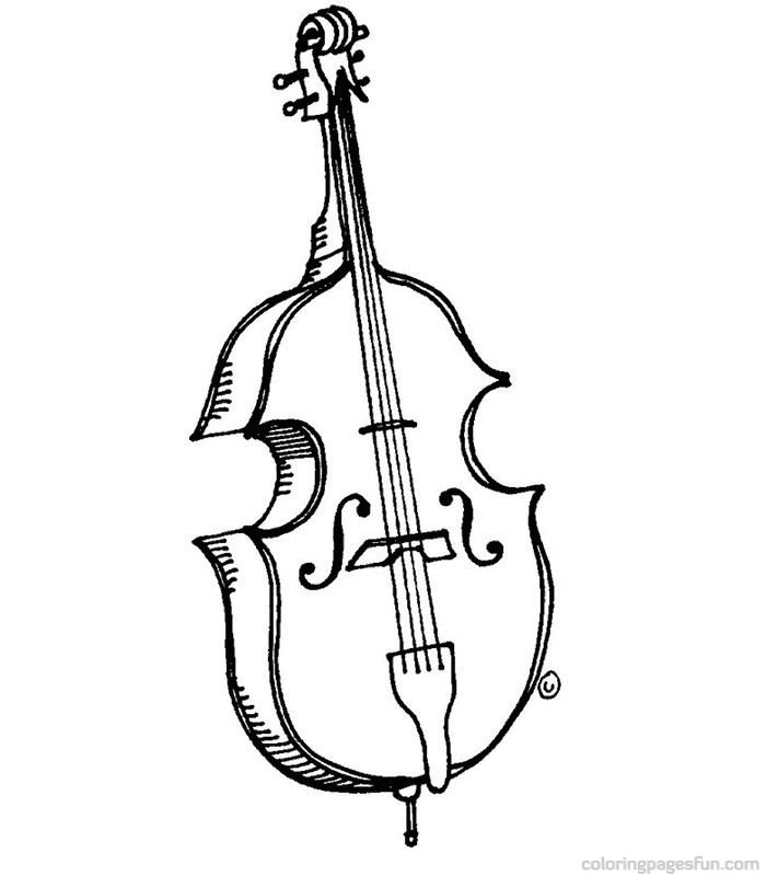 free music instrument coloring pages - photo#25