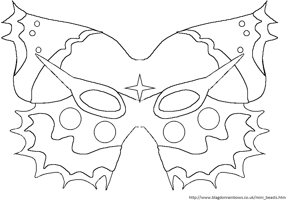 butterfly mask coloring pages | Butterfly Mask Coloring Page Sketch Coloring Page