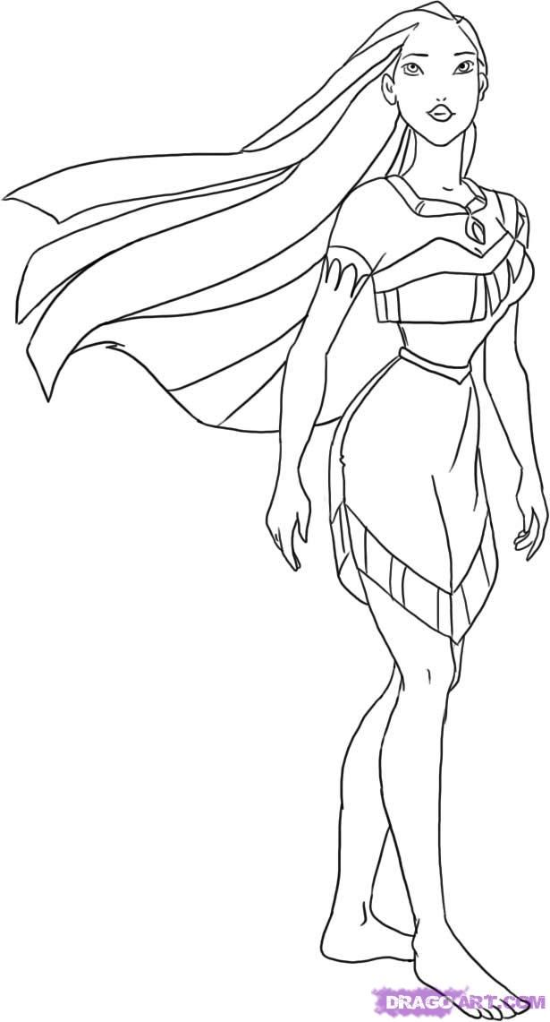 coloring pages pocahontas - photo#4