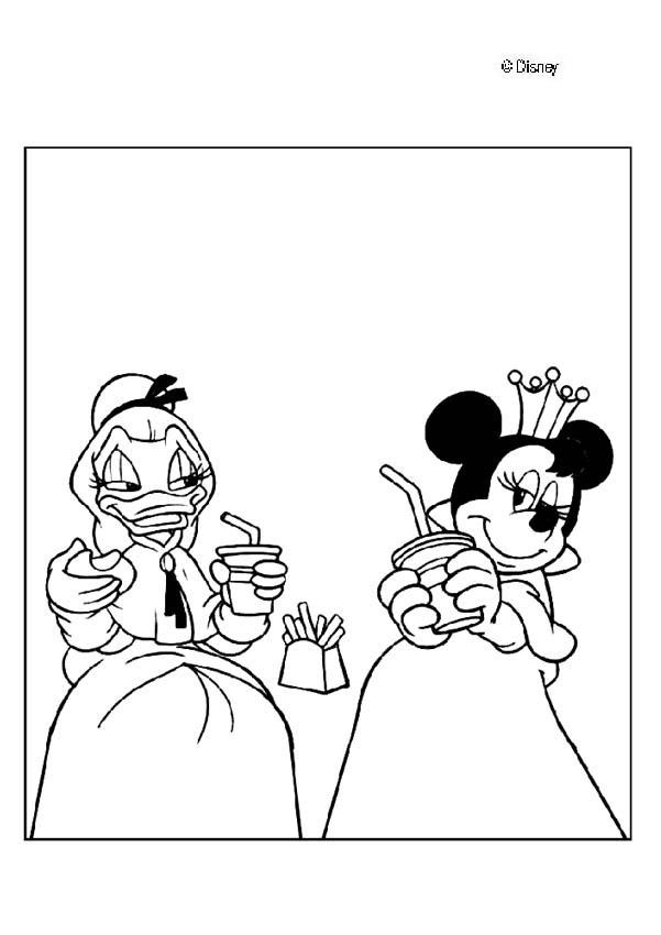 Minnie Mouse Daisy Duck Coloring Pages | Coloring Pages For Kids