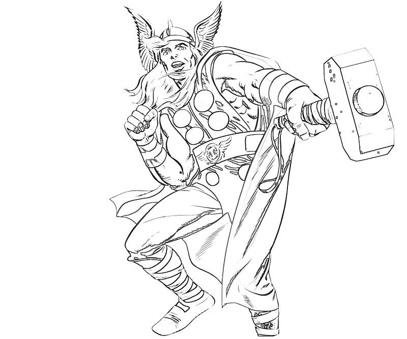 awesome Thor Coloring Pages For Kids | Great Coloring Pages