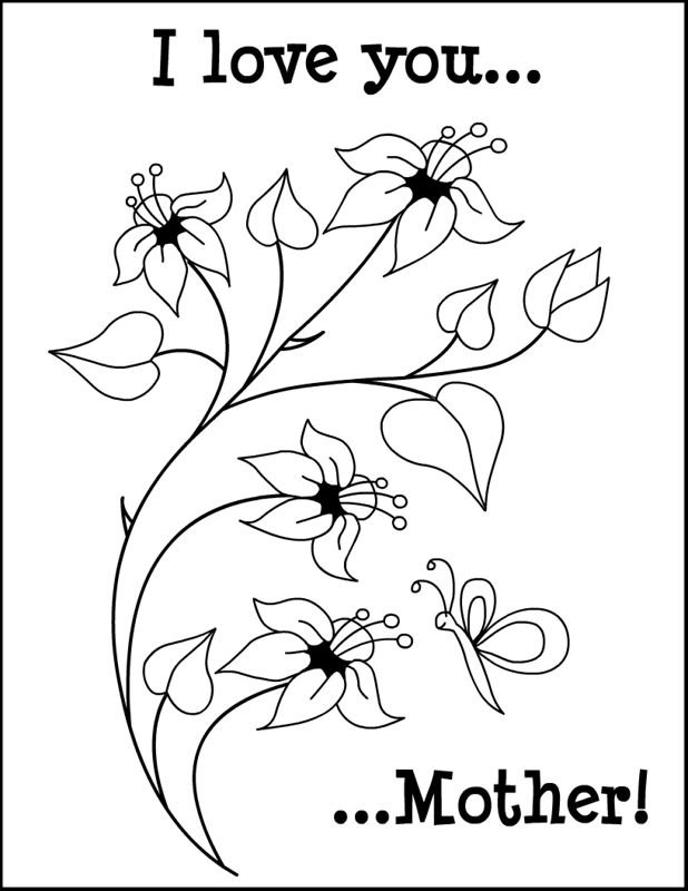 Mothers day color pages az coloring pages for Mothers day coloring pages religious