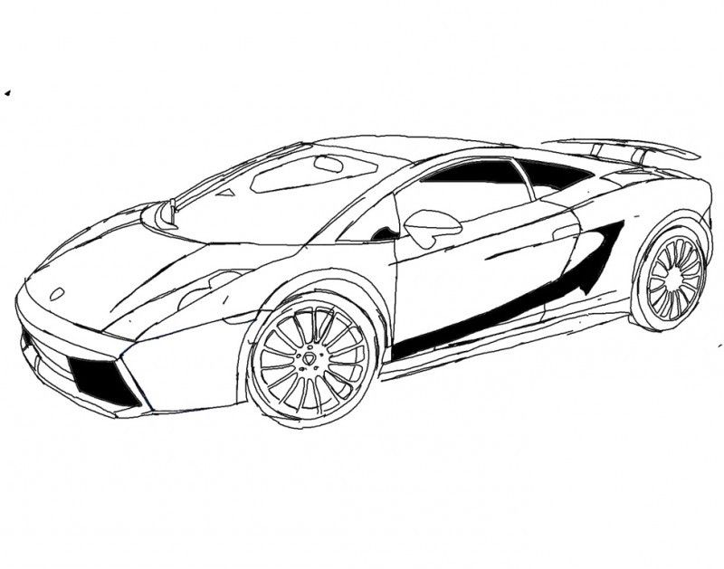 racing car lamborghini gallardo s70 4 coloring page kids