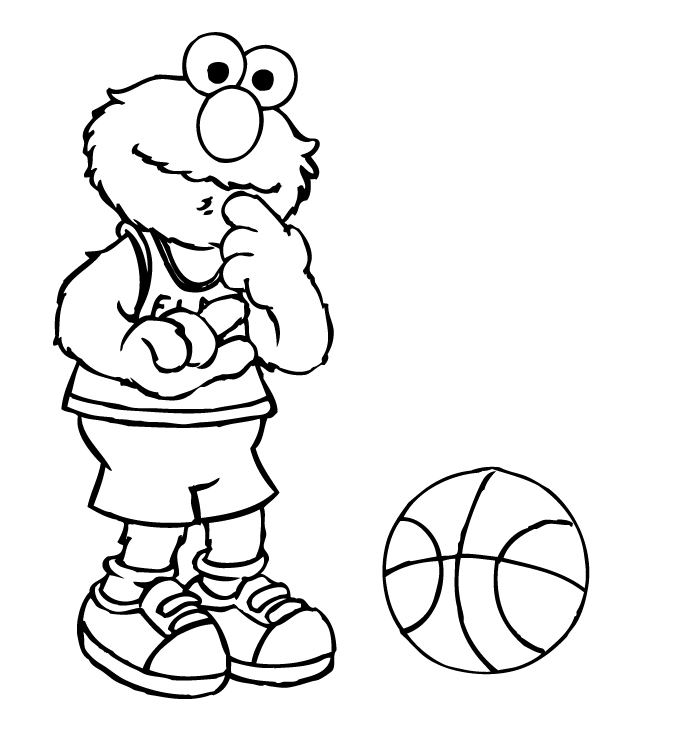 Elmo Coloring Sheets Elmo Pictures to Color