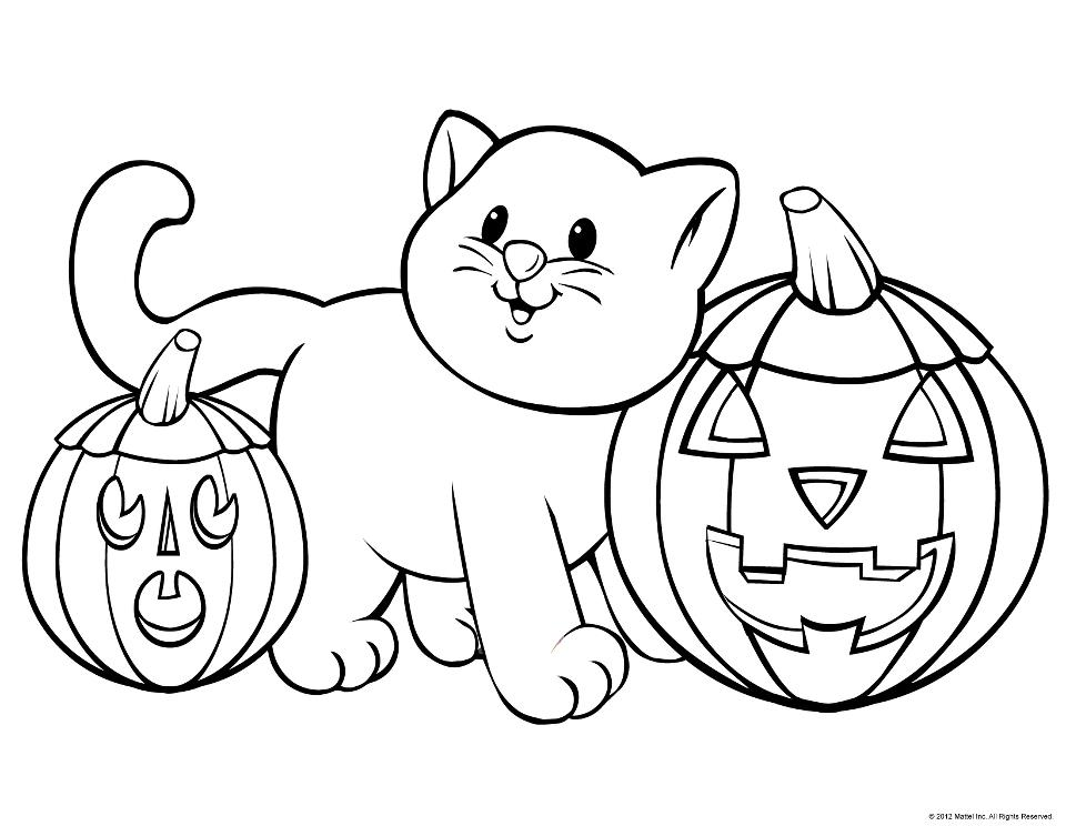 Halloween Coloring Pages For Kids Printable  Coloring Home