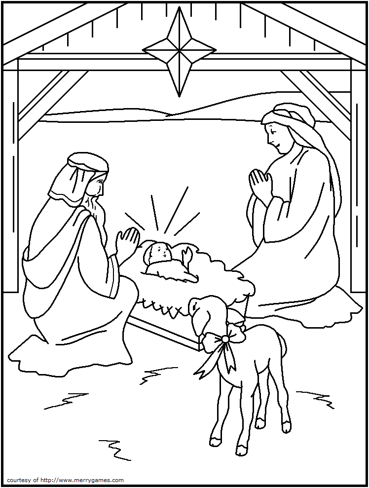 The Philosopher's Wife: 10 Religious Christmas Coloring Pages for