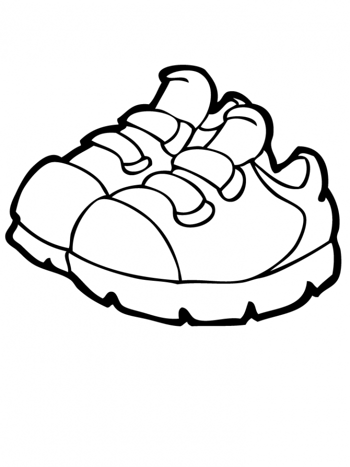 Coloring Pages Of Shoes Coloring Home