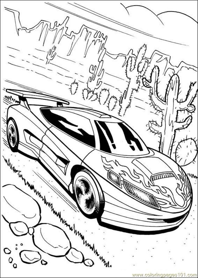 Coloring Pages Hot Wheels 05 (Cartoons > Hot Wheels) - free