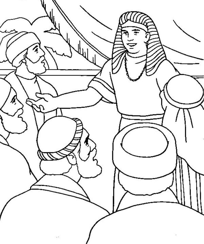 Joseph And His Brothers Coloring Pages 2 | Free Printable Coloring