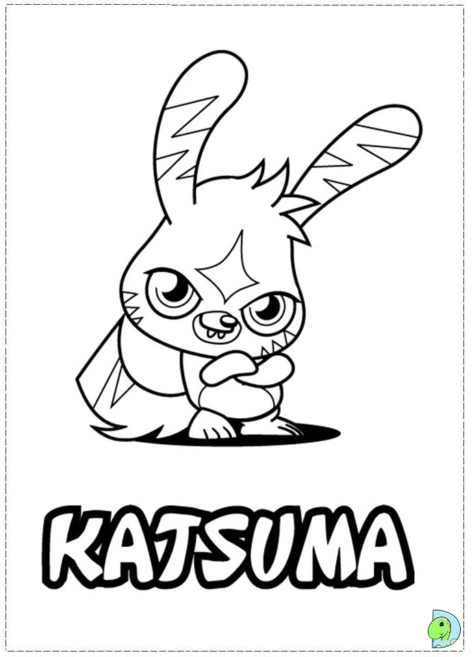 Moshi monsters coloring pages az coloring pages for Moshi monsters coloring pages katsuma
