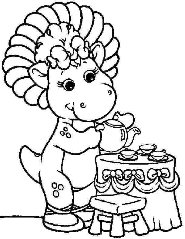 christmas barney coloring pages - photo#12