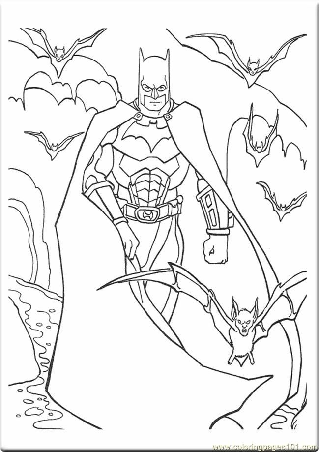 Coloring Pages Batman 4590 Cartoons
