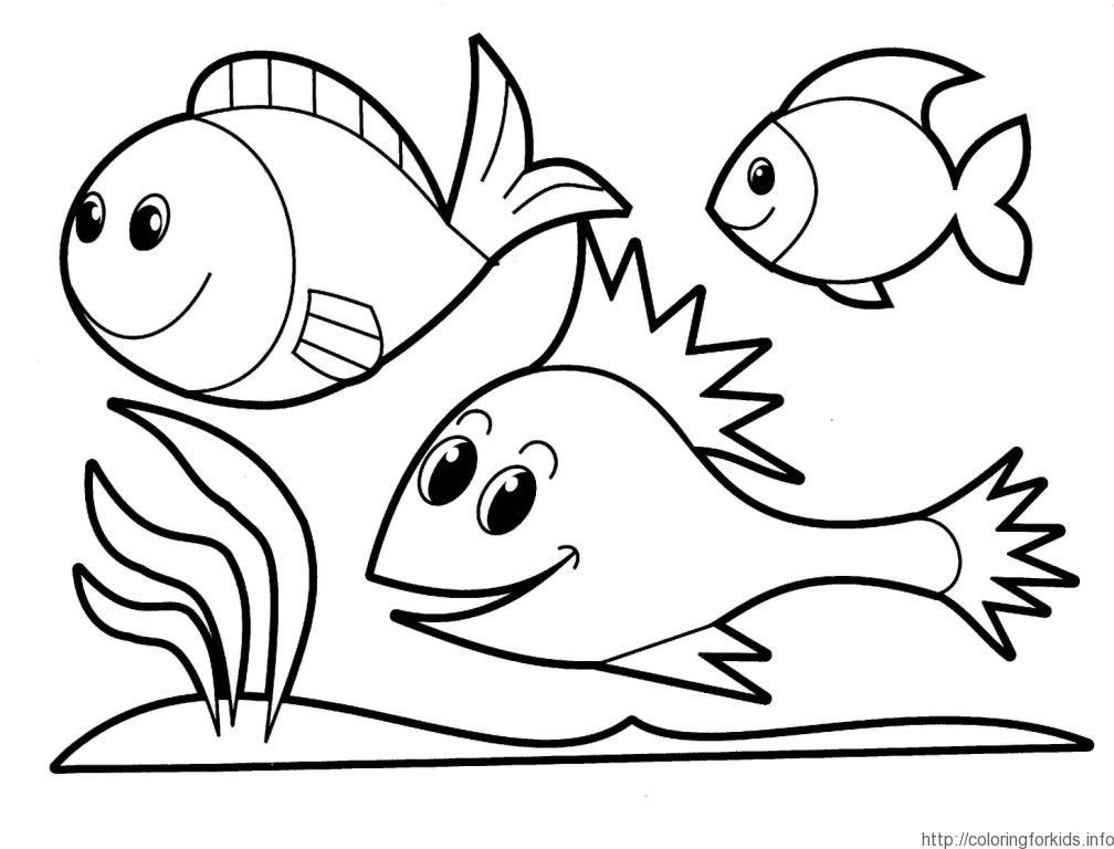 coloring pages for preschool - fish coloring page preschool coloring home