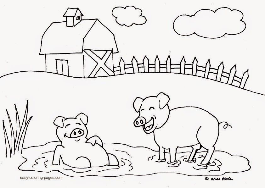 coloring pages kid farm animal - photo#20