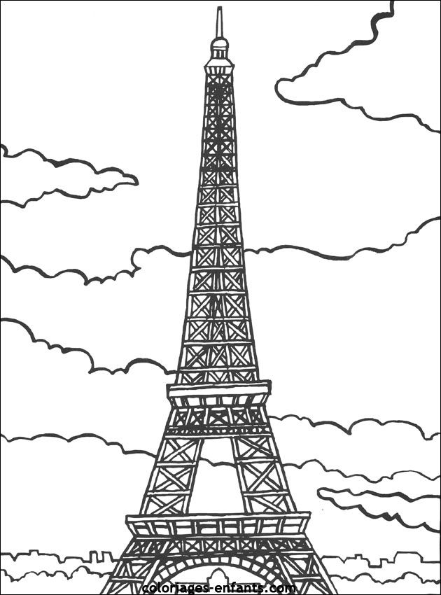 eiffel tower coloring page coloring home. Black Bedroom Furniture Sets. Home Design Ideas
