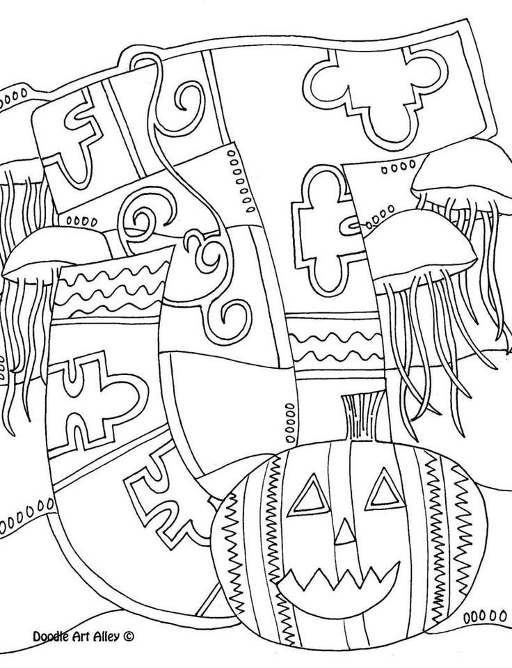 Letter Coloring Pages Doodle Art Alley | School Stuff
