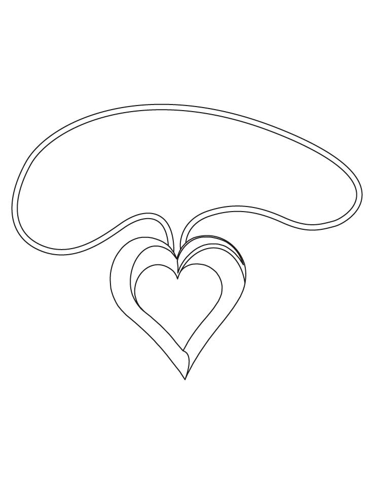 Free printable heart shapes coloring home for Heart shaped coloring pages