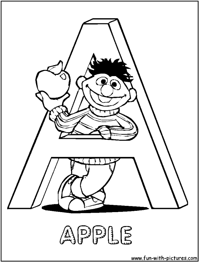 Sesame Street Alphabet Letter A Coloring Page Wallpaper HD 220189