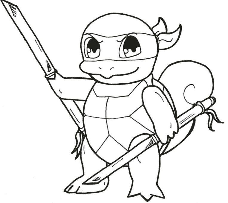 pokemon squirtle coloring pages - photo#33