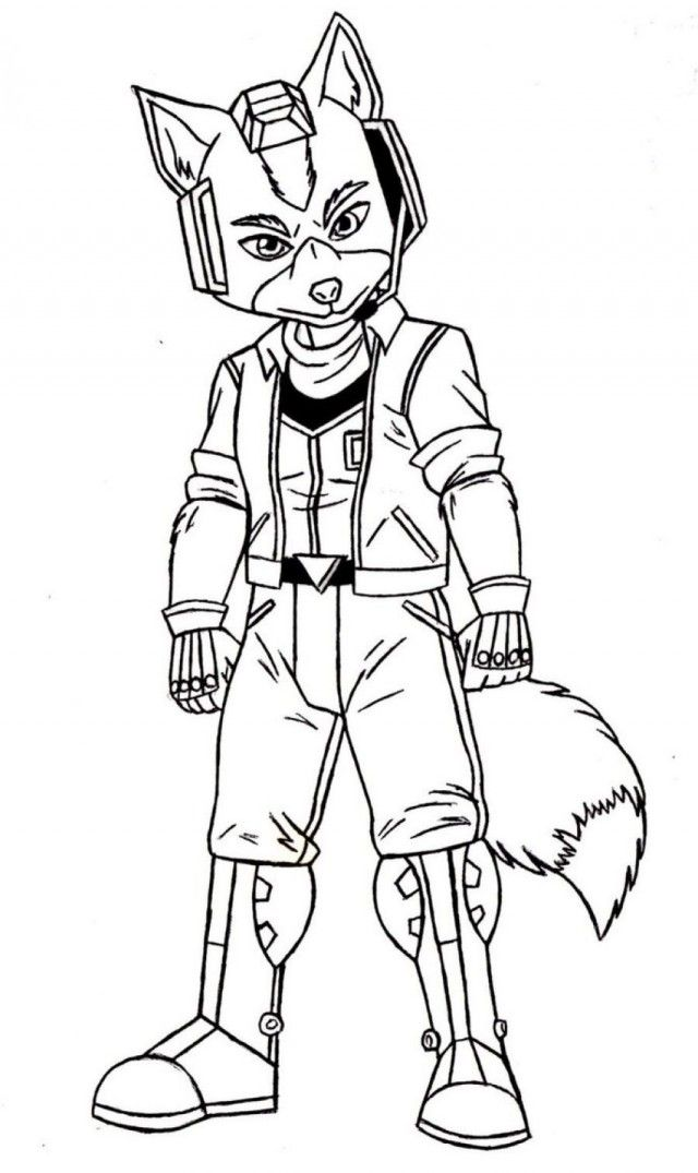 Star Fox Coloring Pages Printable Coloring Sheet 99Coloring Com