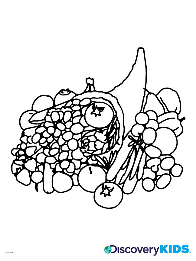 cornucopia coloring pages for kids - photo#21